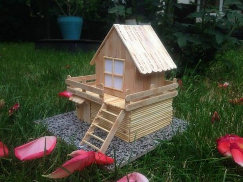 popsicle sticks kids garden playhouse