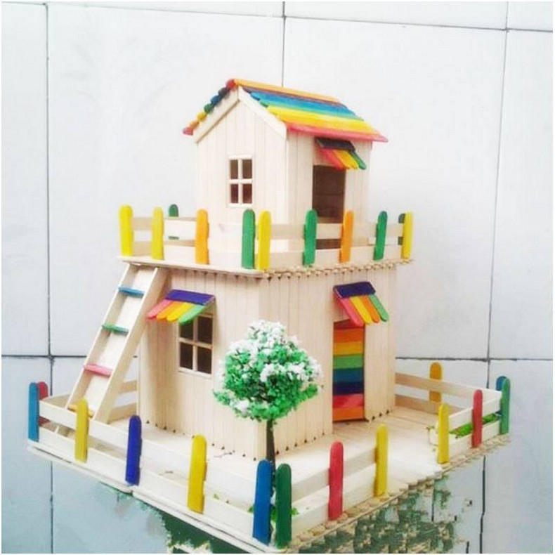popsicle sticks kids playhouse plan