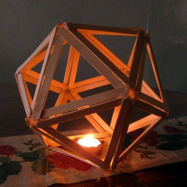 popsicle sticks lighting craft