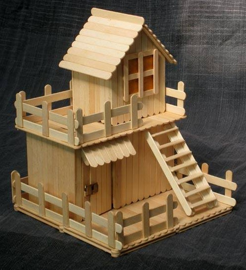 popsicle sticks playhouse idea