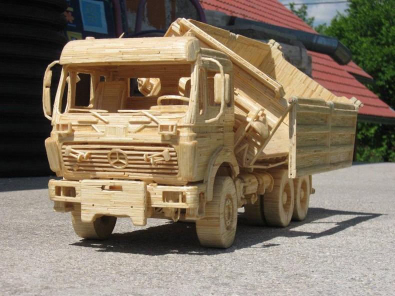 popsicle sticks truck for kids