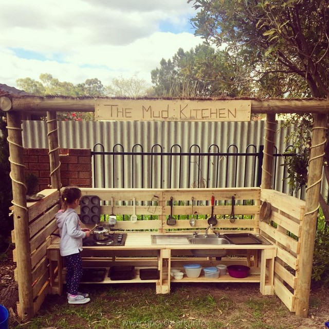 reclaimed pallet kids mud kitchen