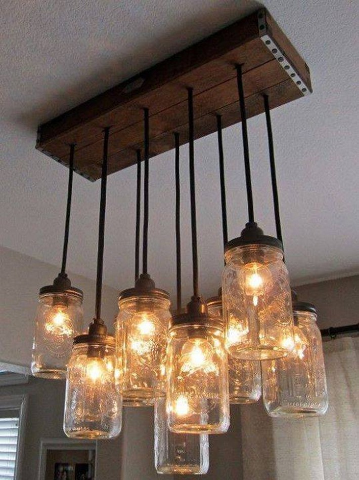 recycled chandelier