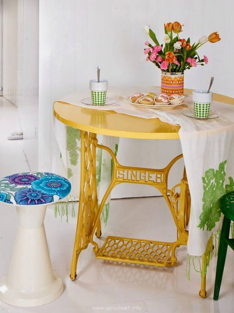 recycled sewing machine ideas