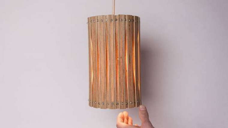 recycled wood lamp ideas