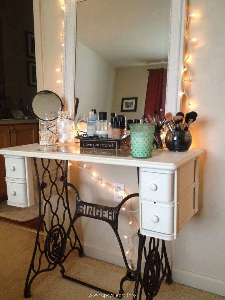 sewing machine recycled dressing table