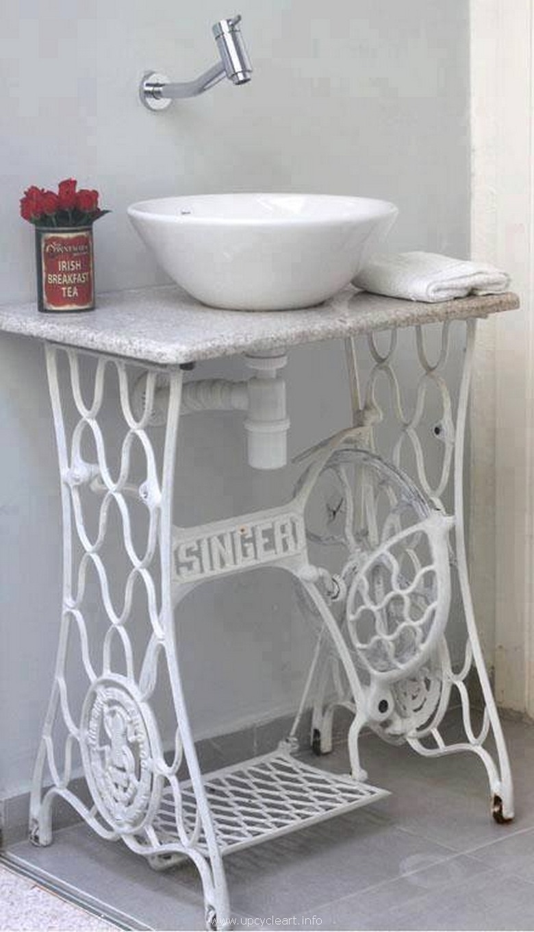 sewing machine recycled sink