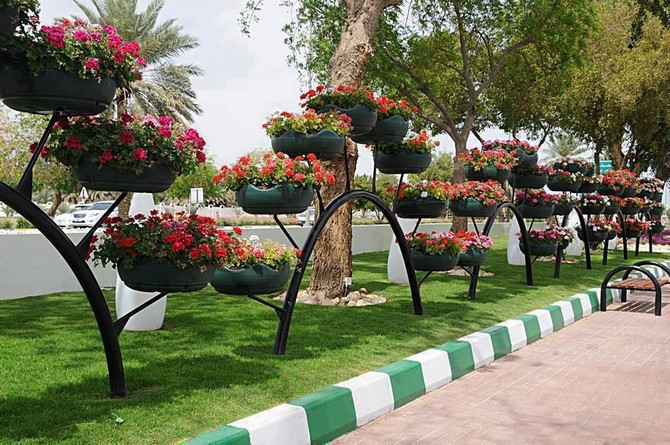 used tires street planters