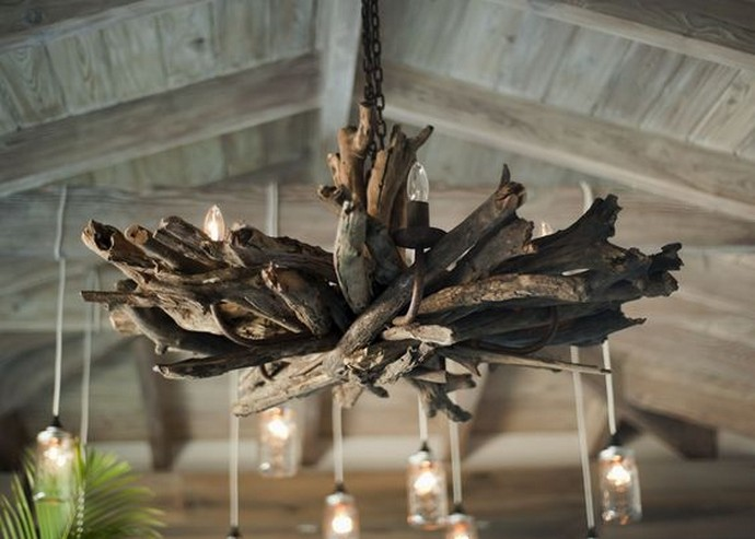 useless Driftwood chandelier