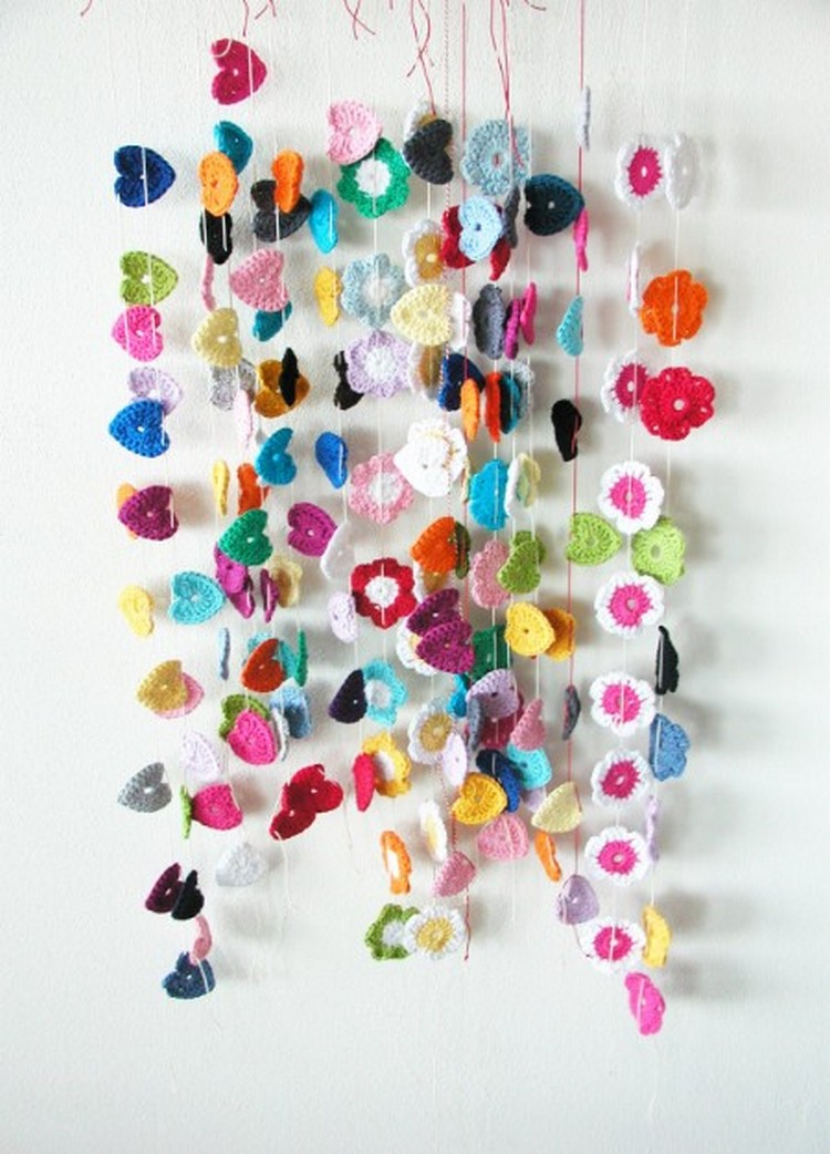 wall decor with crochet
