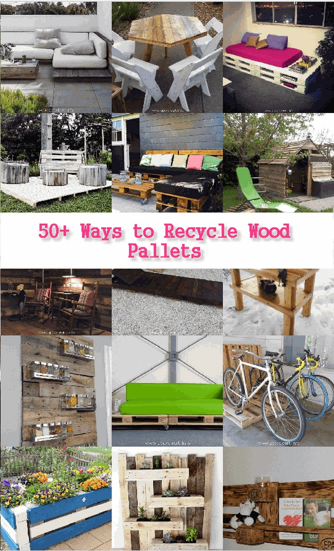 50 ways to recycle wood pallets upcycle art