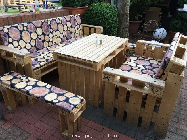 wood pallet patio sofa