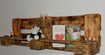 wood pallet shelf and decor