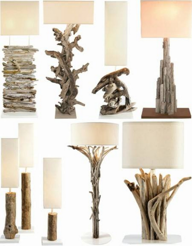 wood repurposed lamp ideas