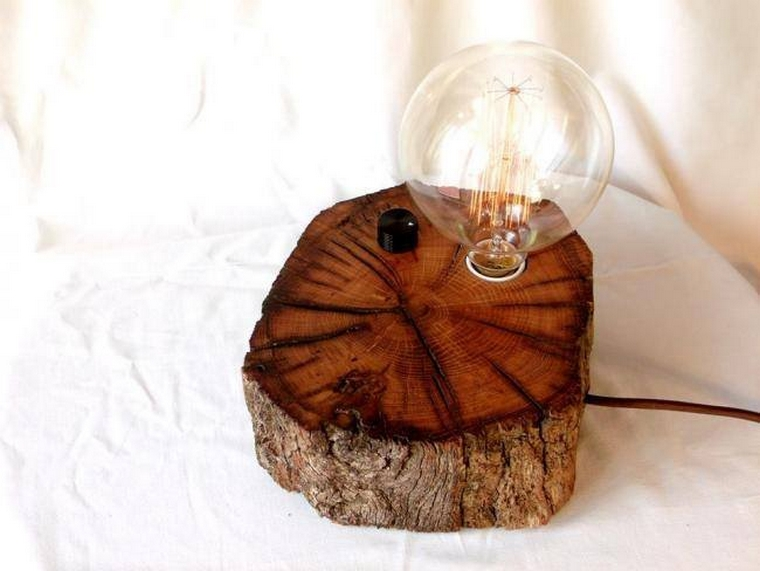 wooden lamp idea