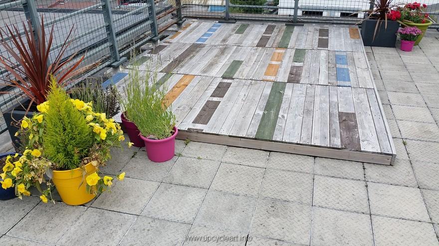 wooden pallet deck