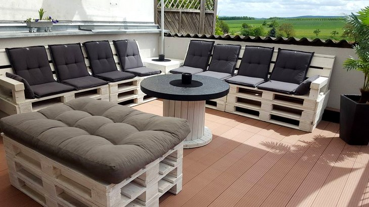 wooden pallet patio furniture plan
