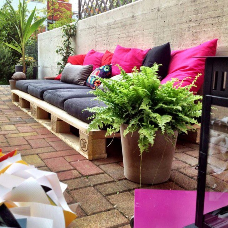 wooden pallet patio garden couch