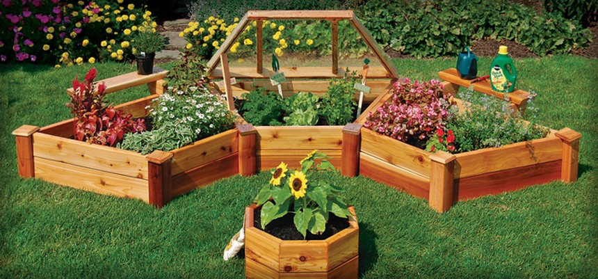 30 ideas for raised garden beds upcycle art for Small garden bed ideas