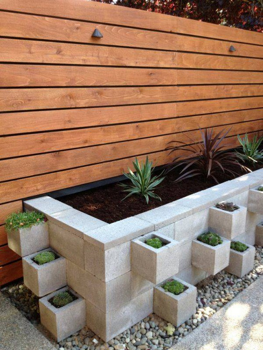 concrete raised garden bed