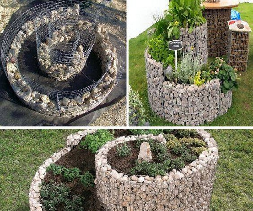 raised bed stone art