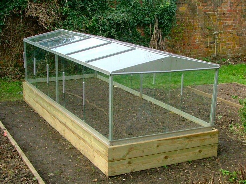 raised garden bed greenhouse