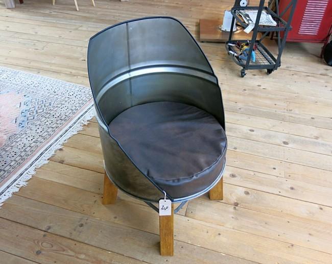 Barrel Metal Upcycled Chairs   Upcycle Art