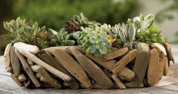 Driftwood Garden Basket