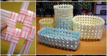 Drinking Straws Upcycled Baskets