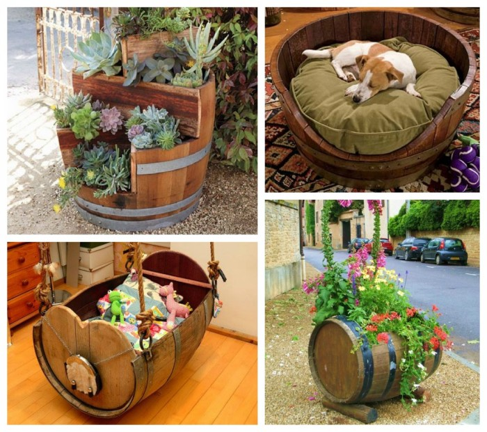 upcycling ideas of wooden barrels upcycle art. Black Bedroom Furniture Sets. Home Design Ideas