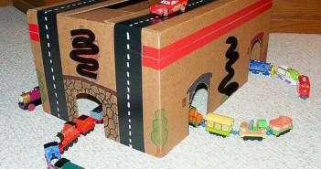 Cardboard Boxes Kids Playhouse