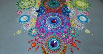 Creative Glittering Gems Art