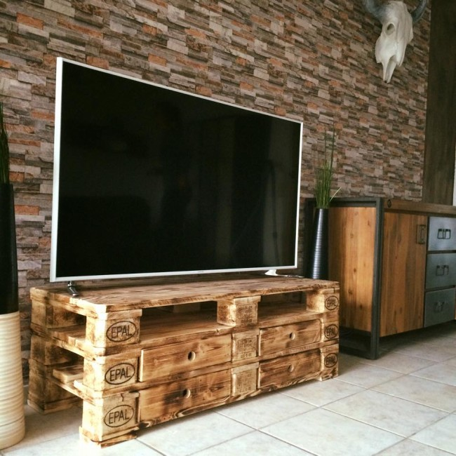 Wooden Pallet Upcycled Tv Stand Upcycle Art