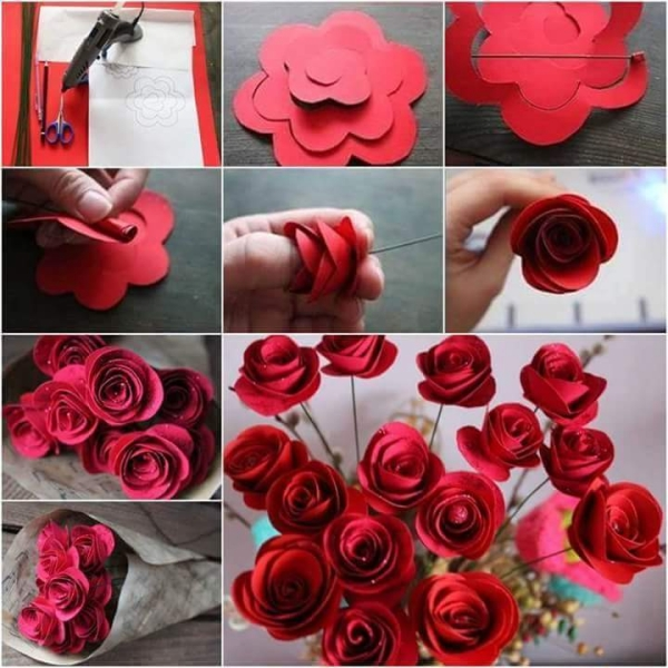 craft ideas for making flowers diy paper flower projects upcycle 6204