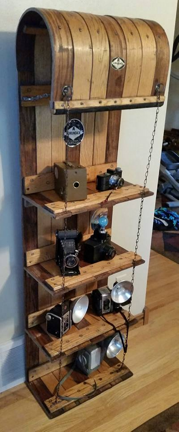 Upcycled Toboggan Shelf Upcycle Art