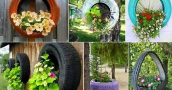 Upcycled Garden Decor with used tyres