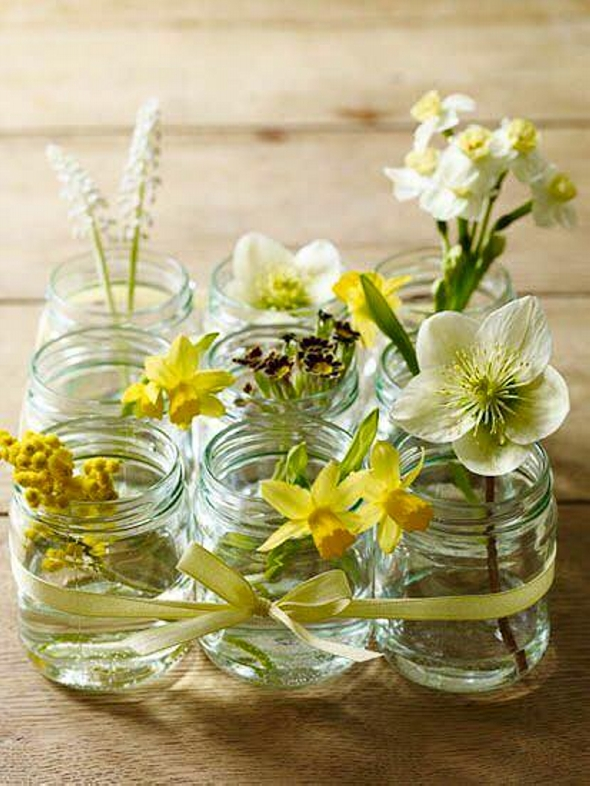 Glass Jars Recycled Decor Crafts Upcycle Art