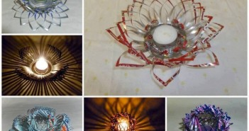 Aluminum Cans Recycled Flower Art