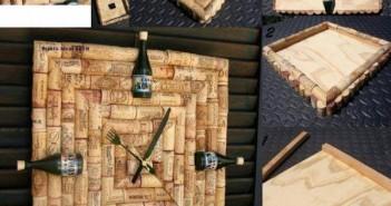 Decorative Wine Stopper Wall Clock
