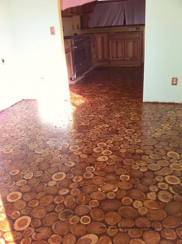 Cordwood Flooring Ideas Upcycle Art