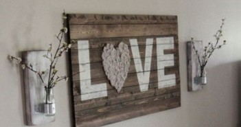 Pallet Love Word Wall Art