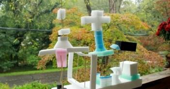 Styrofoam kids sculptures
