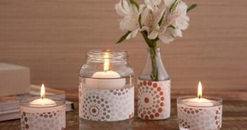 glass jars recycled candles