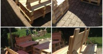 pallet patio furniture idea