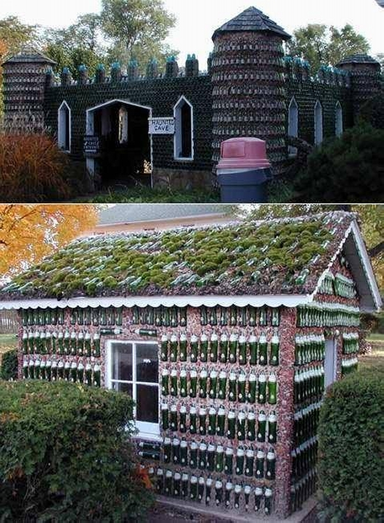 Houses Made Of Recycled Bottles Upcycle Art