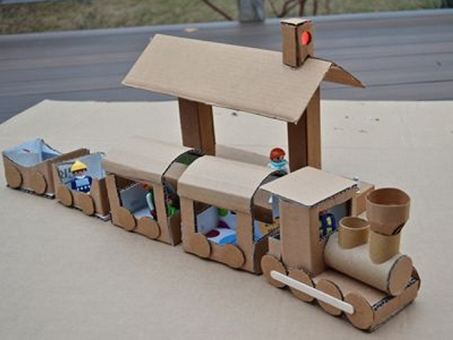Upcycled Cardboard Train Ideas   Upcycle Art