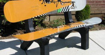 Garden Snowboard Bench