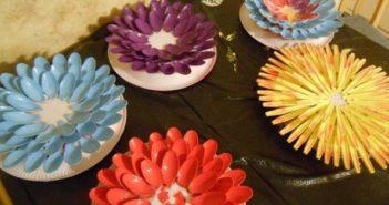 Plastic Spoon Garden Flowers