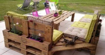 Repurposed pallets patio furniture
