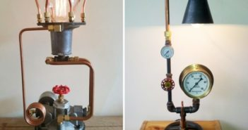 Upcycled Hall's lamps